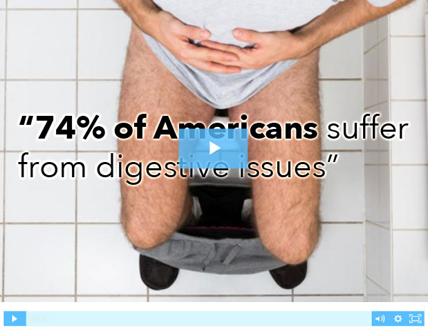 74% of Americans duffrer from digestive issues